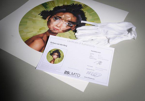 Milena with certificate - Barbara van den Berg