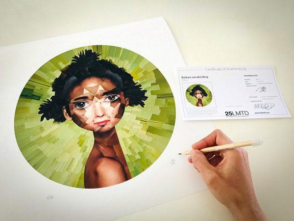 Signing Milena by Barbara van den Berg