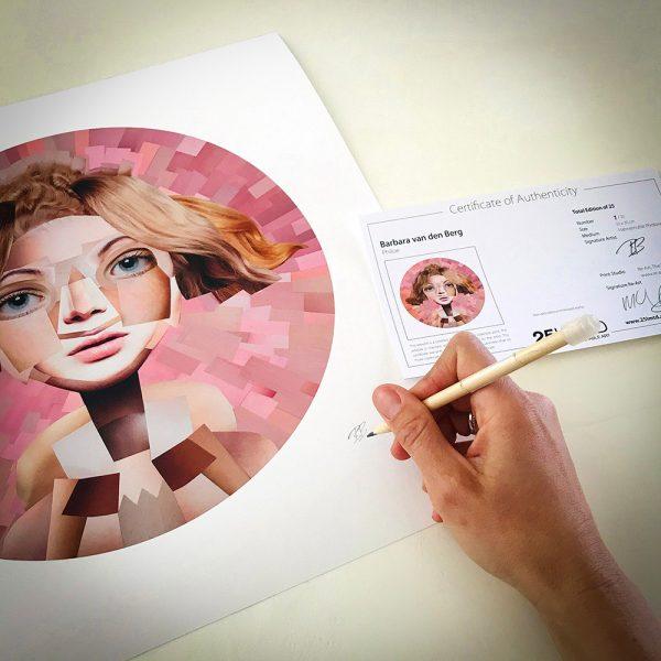 Signing Philoe by Barbara van den Berg