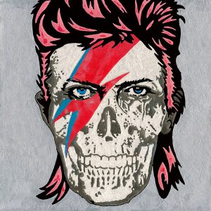 An Artwork of Raymond Stuwe called Bowie Skull