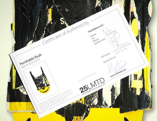 Bad Smile III certificate