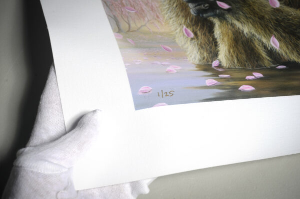 Numbering Limited Edition canvas print of The Prayer